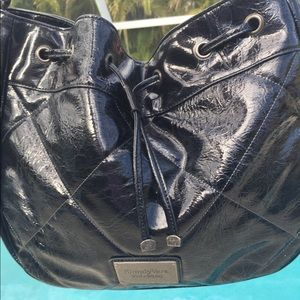 Simply Vera Wang Dark Blue Patent Leather Purse